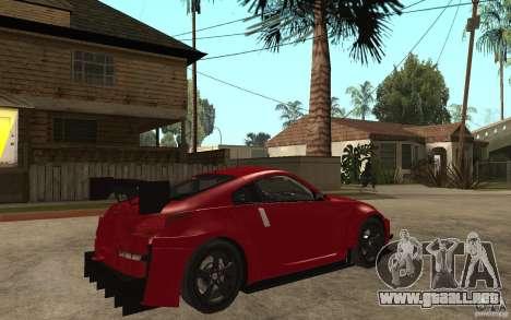 Nissan 350Z Supreme para la visión correcta GTA San Andreas