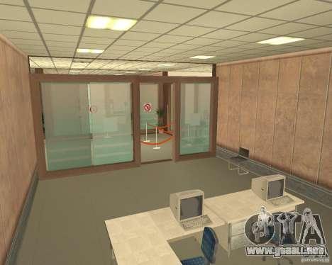 Banco en Los Santos para GTA San Andreas sucesivamente de pantalla