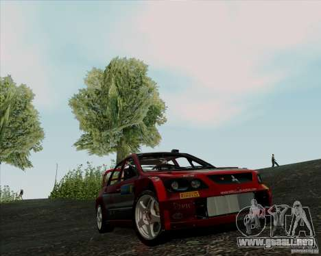 Mitsubishi Lancer Evolution VIII WRC para GTA San Andreas left