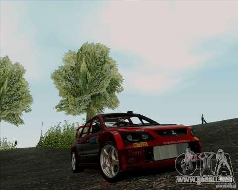 Mitsubishi Lancer Evolution VIII WRC para GTA San Andreas left