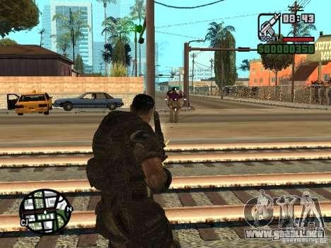 Dominic Santiago de Gears of War 2 para GTA San Andreas segunda pantalla