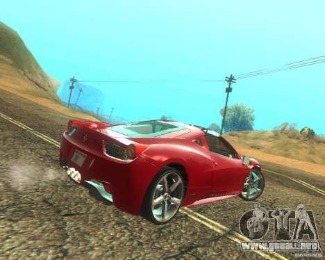Ferrari 458 Italia Convertible para la visión correcta GTA San Andreas