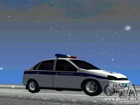 VAZ 1118 DPS para GTA San Andreas vista posterior izquierda