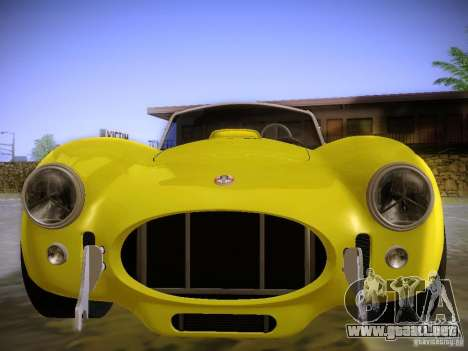 Shelby Cobra 427 para GTA San Andreas vista hacia atrás
