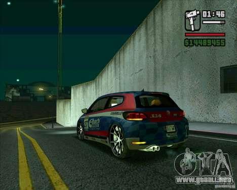 Volkswagen Scirocco 2008 para GTA San Andreas vista posterior izquierda