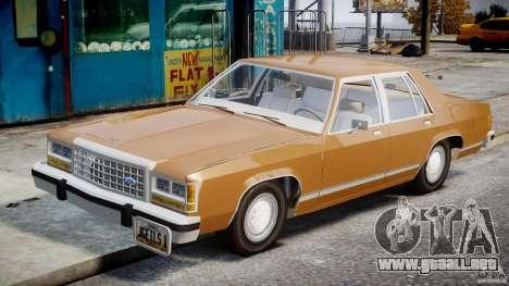 Ford Crown Victoria 1983 para GTA 4 vista interior