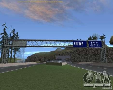 Carretera signos v1.1 para GTA San Andreas quinta pantalla