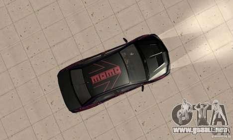 Mitsubishi Lancer Evo 8 Tuning para la visión correcta GTA San Andreas