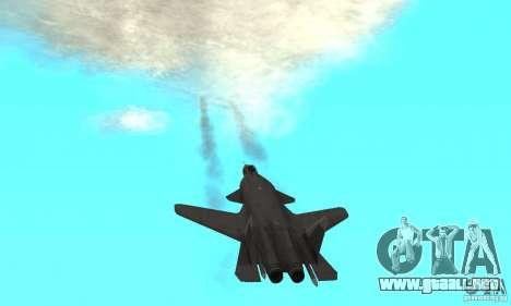 Su-47 berkut aprobar para GTA San Andreas vista hacia atrás