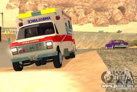 Ford Econoline Ambulance para GTA San Andreas left