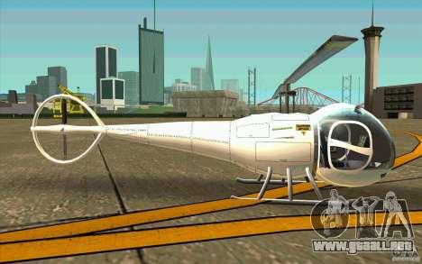 Dragonfly - Land Version para GTA San Andreas vista posterior izquierda