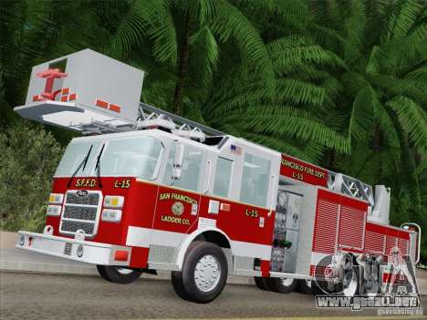 Pierce Aerials Platform. SFFD Ladder 15 para GTA San Andreas left