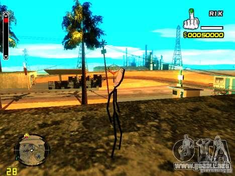 TrollFace skin para GTA San Andreas tercera pantalla