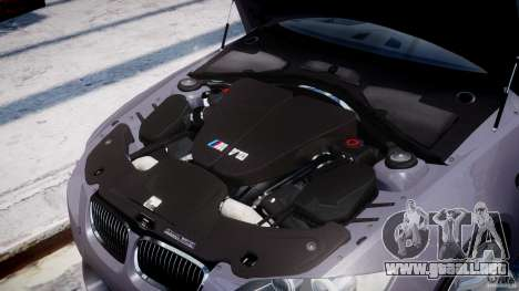 BMW M3 E92 stock para GTA 4 vista lateral