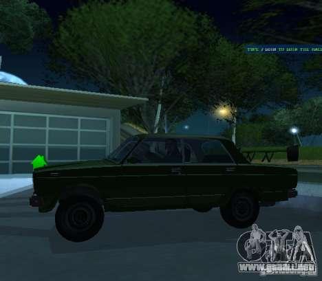VAZ 2107 permite para GTA San Andreas vista posterior izquierda