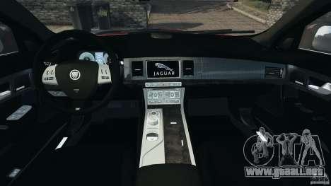 Jaguar XFR 2010 v2.0 para GTA 4 vista hacia atrás