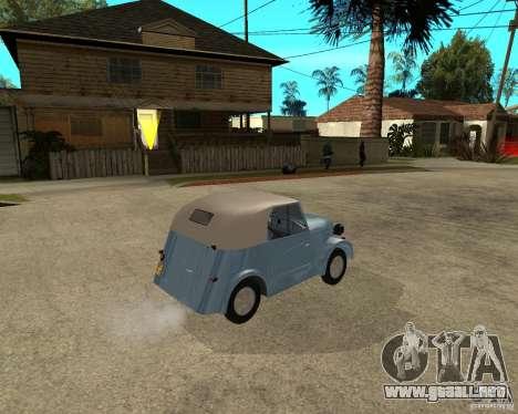 SMZ s-3A para GTA San Andreas vista posterior izquierda