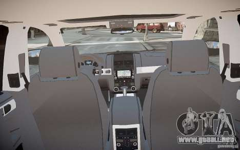 Volkswagen Touareg R50 para GTA 4 vista desde abajo