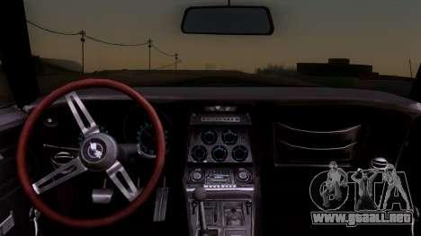 Chevrolet Corvette C3 Stingray T-Top 1969 v1.1 para la visión correcta GTA San Andreas