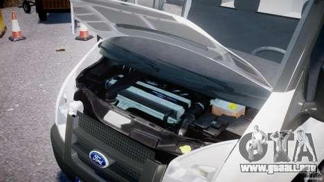 Ford Transit Pickup 2008 para GTA 4 vista hacia atrás