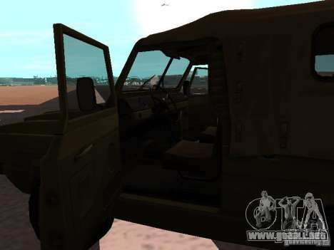 UAZ-3907 Jaguar para GTA San Andreas vista posterior izquierda