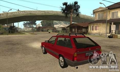 VW Parati GL 1994 para GTA San Andreas vista posterior izquierda