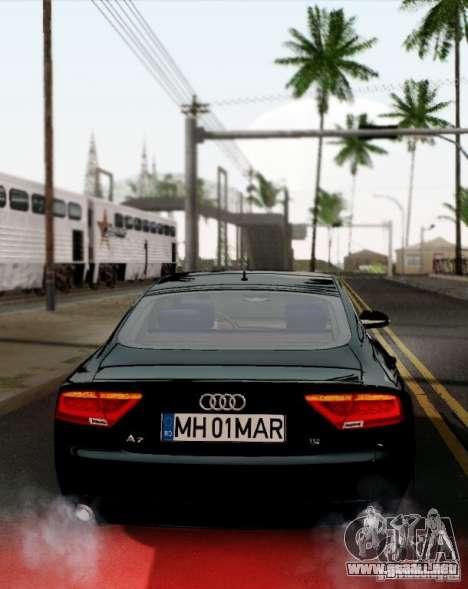 Audi A7 Sportback 2010 para la visión correcta GTA San Andreas