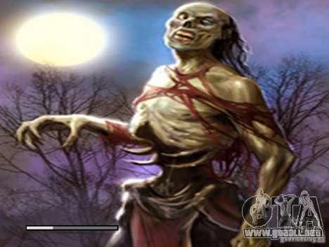 Pantalla de arranque de Zombies para GTA San Andreas sucesivamente de pantalla
