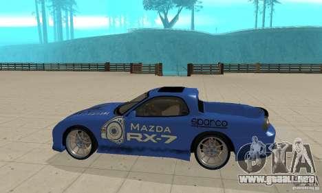 Mazda RX-7 Pickup para GTA San Andreas vista posterior izquierda