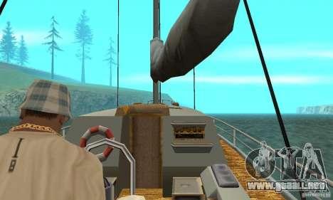 Marquis HD para GTA San Andreas vista hacia atrás