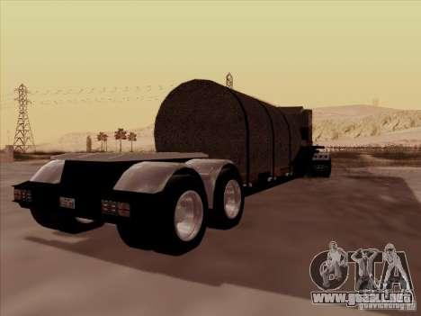 Trailer, Peterbilt 378 Custom para GTA San Andreas vista hacia atrás
