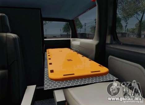 Chevrolet Suburban EMS Supervisor 862 para vista inferior GTA San Andreas
