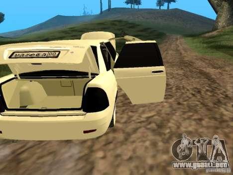 LADA Priora 2170 Limousine para visión interna GTA San Andreas