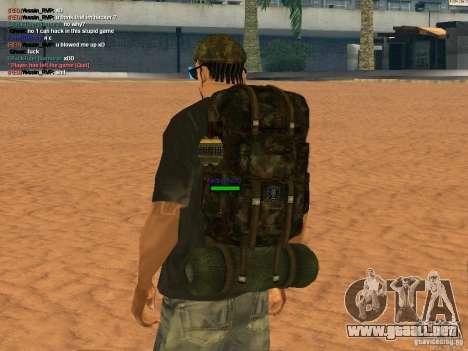 Military backpack para GTA San Andreas segunda pantalla