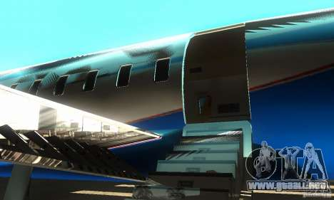 Blue Ghawar para GTA San Andreas vista posterior izquierda
