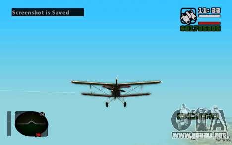 Antonov an-2 para GTA San Andreas left