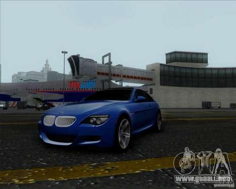BMW 6 Series M para GTA San Andreas vista hacia atrás