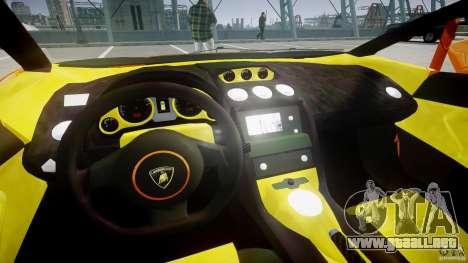 Lamborghini Gallardo Superleggera para GTA 4 vista hacia atrás