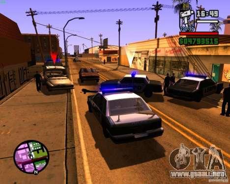 Persiguiendo a las máquinas para GTA San Andreas segunda pantalla