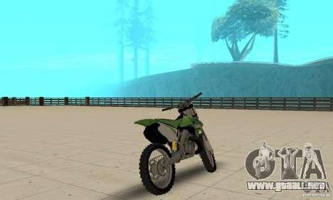 Kawasaki KX250 para GTA San Andreas left