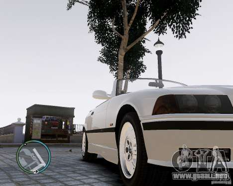 BMW M3 e36 1997 Cabriolet para GTA 4 visión correcta