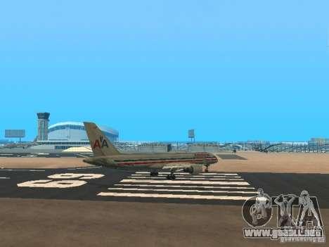 Boeing 757-200 American Airlines para la visión correcta GTA San Andreas