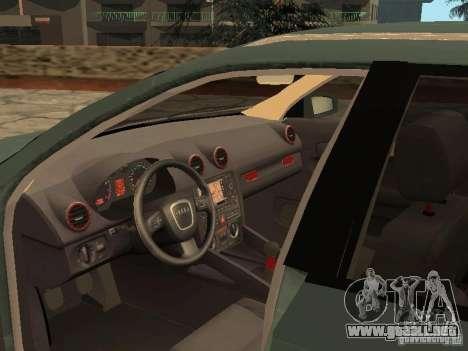 Audi S3 Sportback 2007 para GTA San Andreas vista hacia atrás
