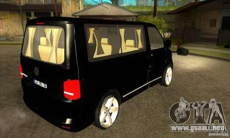 Volkswagen Caravelle 2011 SWB para la visión correcta GTA San Andreas