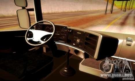 Scania R620 Emercom de Rusia para GTA San Andreas vista hacia atrás