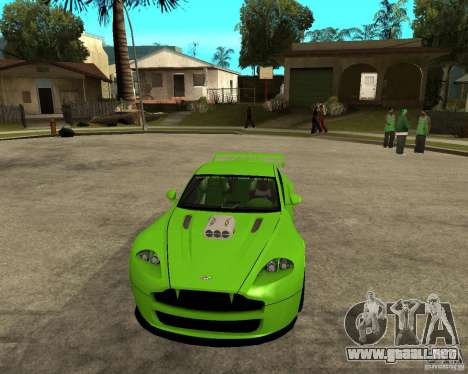 Aston Martin Vantage V8 - Green SHARK TUNING! para GTA San Andreas vista hacia atrás
