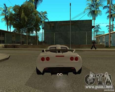 Lotus Exige para GTA San Andreas vista posterior izquierda