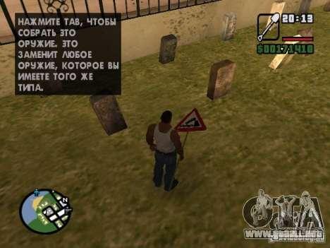 Señal de tráfico para GTA San Andreas segunda pantalla
