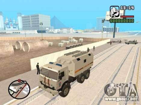 KAMAZ MES versión 2 para GTA San Andreas left