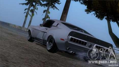 Shelby GT500 1969 para GTA San Andreas left